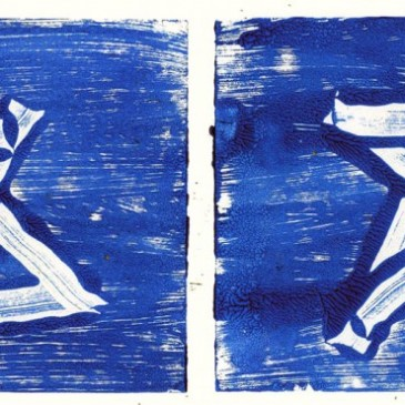Monoprint Holiday Stars