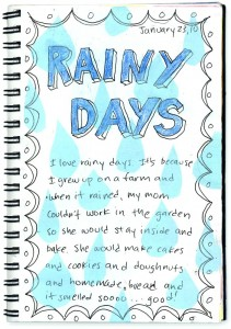 rainy day journaling art projects for kids