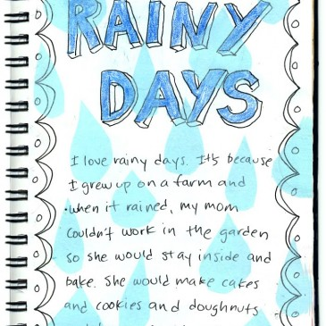 Write 5 lines on rainy day