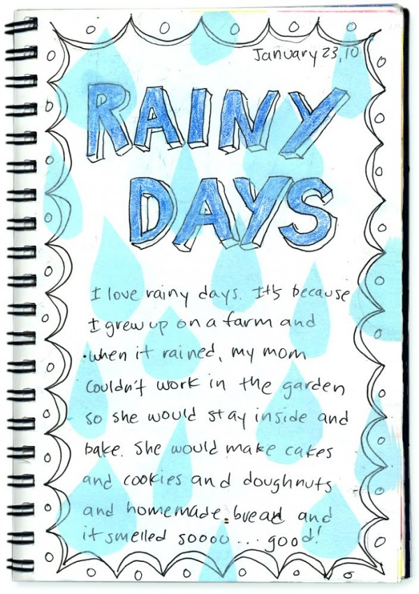 Essay on a rainy day for kids
