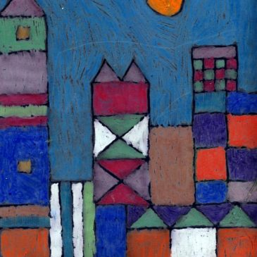 Paul Klee Oil Pastel Cityscape