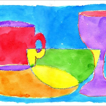 Abstract Watercolor Still Life