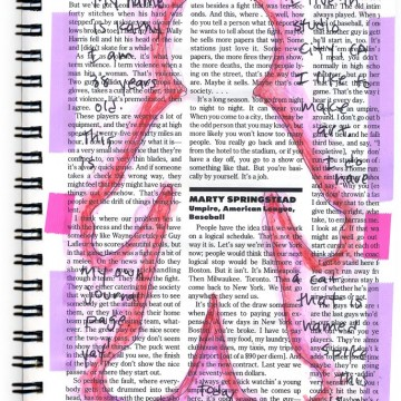 Magazine Background Journal Page