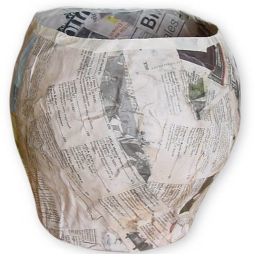 Paper Mache Bowl, Part 1