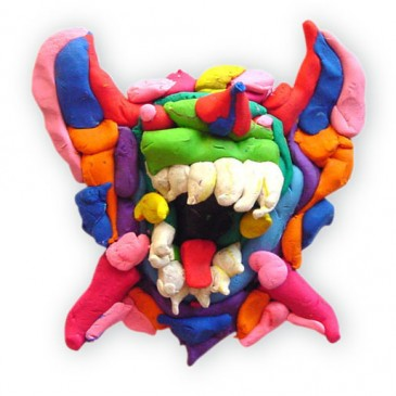 Polymer Clay Monster Face