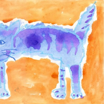Watercolor Scaredy Cat