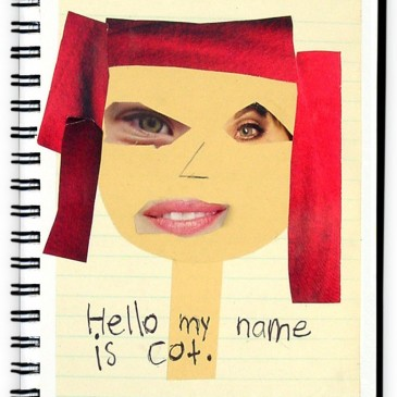 Face Collage Journal Page