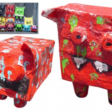 'Ugly' Paper Mache Monsters