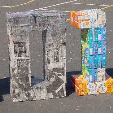 Giant Paper Mache Numbers