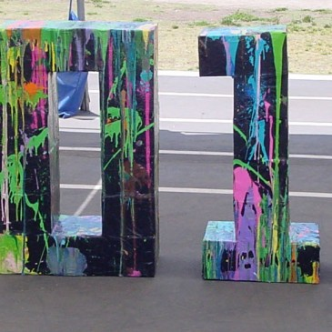 Giant Paper Mache Numbers – Painted