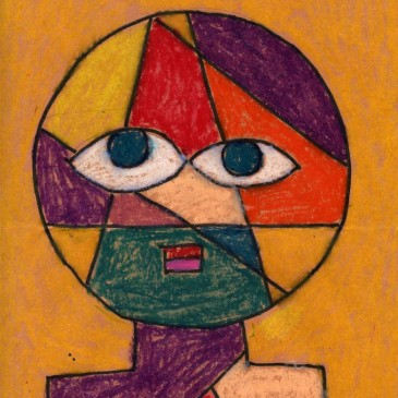 Oil Pastel Klee Portrait