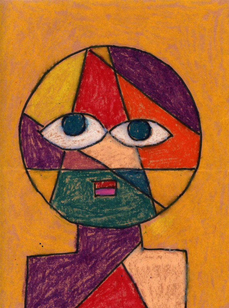 Oil Pastel Klee Portrait - Art Projects for Kids