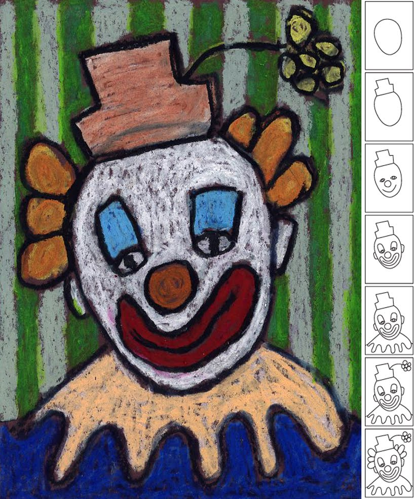 How To Draw A Clown Art Projects For Kids