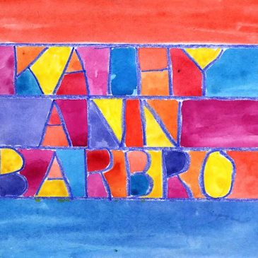 Watercolor and Crayon Name
