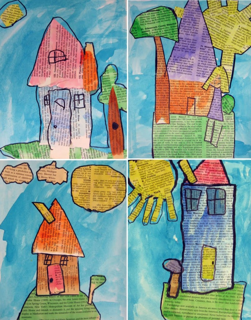 Multimedia collages from georgia art projects for kids for Projects of houses