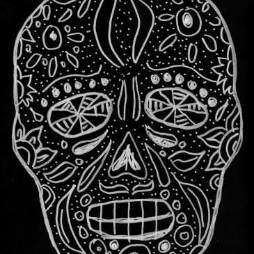 Day of the Dead Skull Drawing