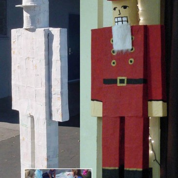 Giant Paper Mache Nutcracker, Part 3 and 4