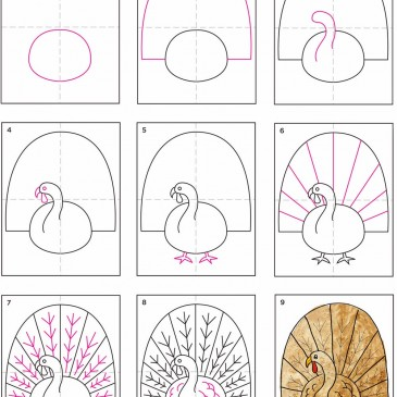 How to Draw and Paint a Turkey