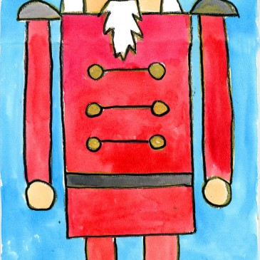 Nutcracker: Watercolor Painting