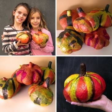 Paper Mache Pumpkins from Barcelona