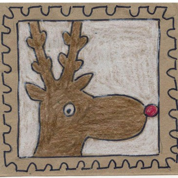 How to Draw Rudolf Stamp