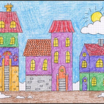 Draw a Winter Town