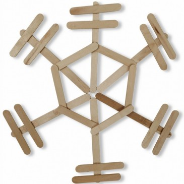 Another Popsicle Stick Snowflake
