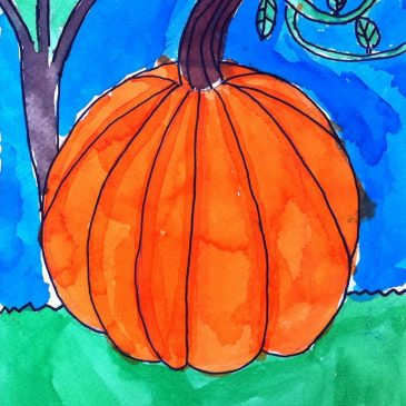 Cassius' Watercolor Pumpkin