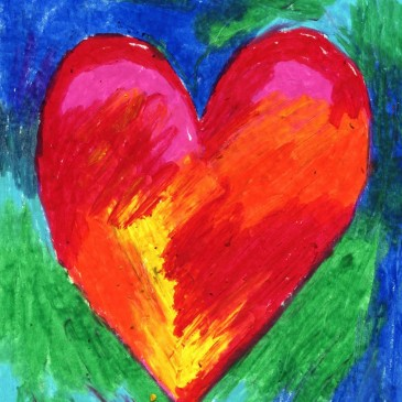 Oil Pastel Hearts