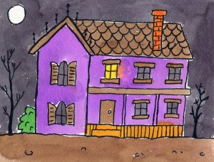 Draw a haunted house