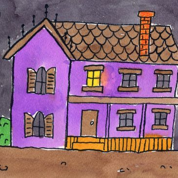 How to Draw a Haunted House