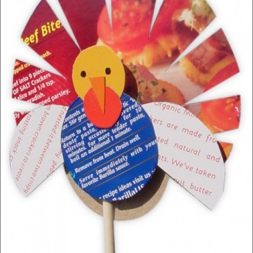 Recycled Turkey on a Stick