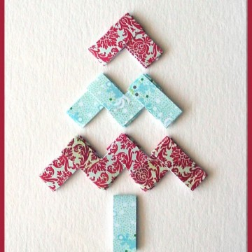 Paper Chain Tree Card