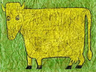 Dubuffet Cow Drawing