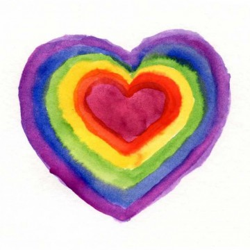 Color Wheel Heart