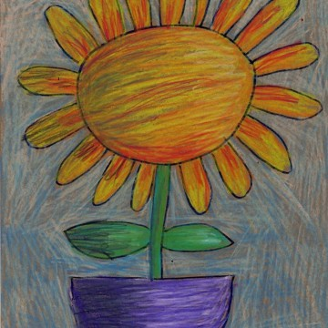 Color Sticks Flower Drawing