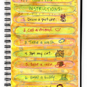 "Art Journal ""Happiness List"""