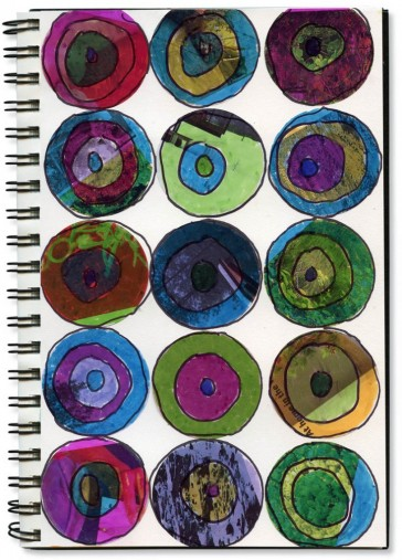 Magazine Circles of Color