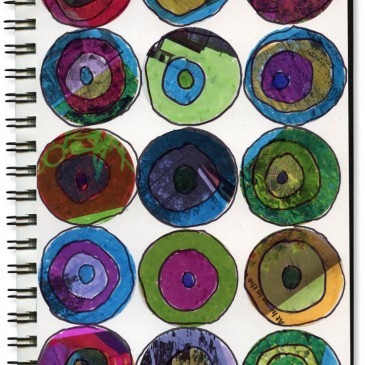 Art Journal: Magazine Circles