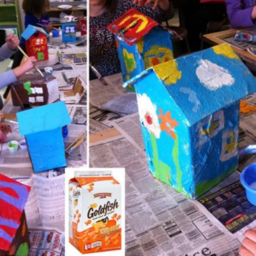 Paper Mache Houses