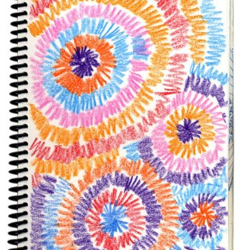 Art Journal Fireworks Drawing