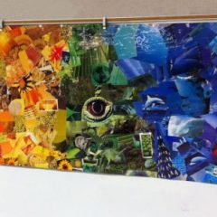Collaborative Rainbow Collage