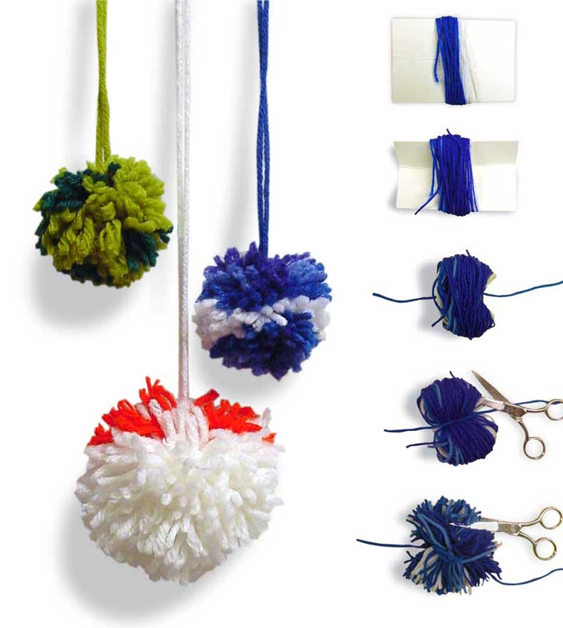 Pom pom balls art projects for kids for Crafts to make with pom poms