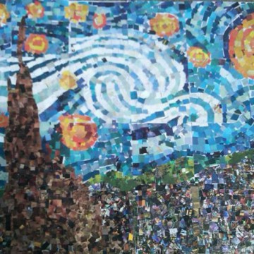 Starry Night Collage
