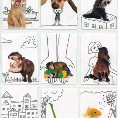 Animal Fun ATC Template
