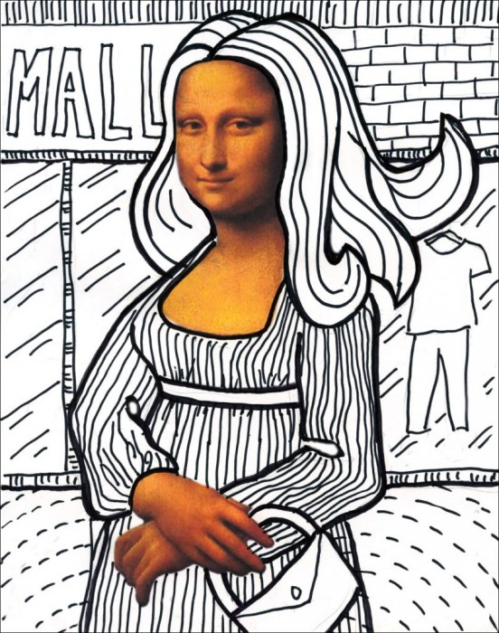 Contour Line Drawing Of Mona Lisa : Leonardo davinci unit studies and free printables
