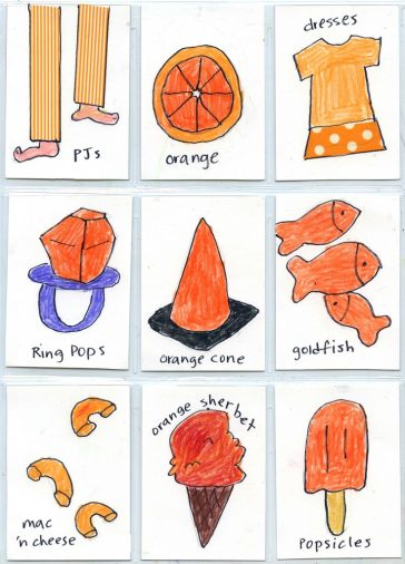 """""""Things that are Orange"""" ATC Cards"""