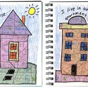 """Where I Live"" Art Journal Pages"