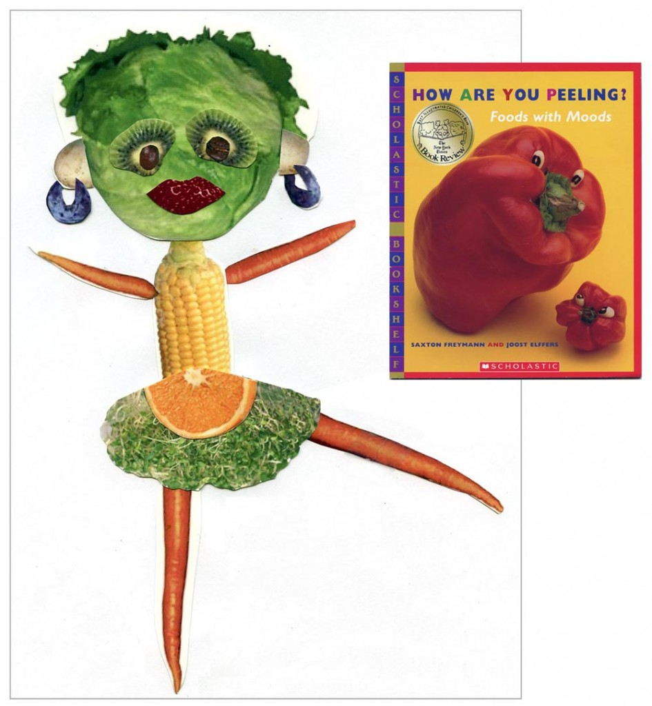 Fruity People Collage - Art Projects for Kids