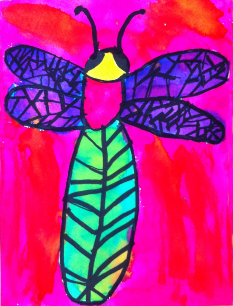 Dragonfly arts and crafts - Watercolor Dragonfly